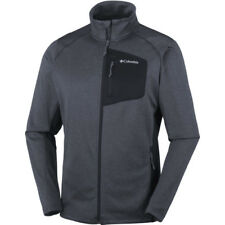 Columbia Jackson Creek Ii Full Zip Mens Jacket Fleece - Black Heather All Sizes