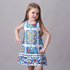 Flower Girl Dress Holiday Party Princess Pageant Formal Birthday Graduation Blue