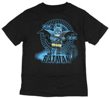 Lego Batman Boys' Bat Cowl Cape Black Animated Cartoon Character Cotton T-Shirt