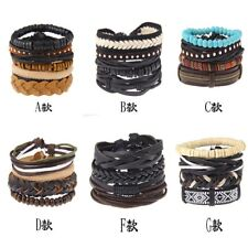DIY Unisex New Beads Love Friendship Infinity Leather Charm Bracelet Jewelry Hot
