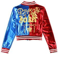 DC Comics Suicide Squad Harley Quinn Cosplay Costume Bomber Jacket