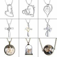 Fashion Women Cross Heart Love Crystal Necklace Pendant Jewelry Chain Party Gift