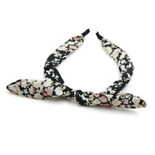 Floral Pattern Rural Style Bow Tie Decor Hair Band Hairband Headband Headwear