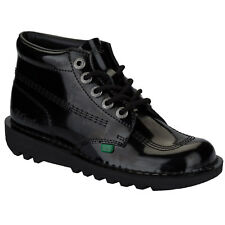 Womens Kickers Kick Hi Patent Boots In Black From Get The Label