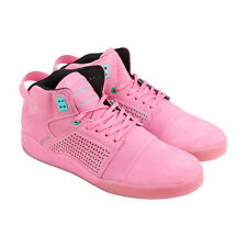 Supra Skytop III Mens Pink Suede High Top Lace Up Sneakers Shoes