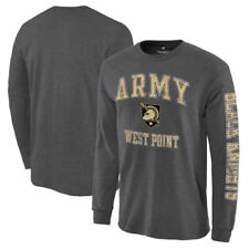 Army Black Knights Charcoal Distressed Arch Over Logo Long Sleeve Hit T-Shirt