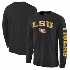 LSU Tigers Black Distressed Arch Over Logo Long Sleeve Hit T-Shirt - College