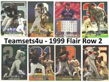 1999 Flair Row 2 Baseball Set ** Pick Your Team **