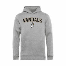 Idaho Vandals Youth Ash Proud Mascot Pullover Hoodie - - College