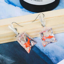 Kawaii Cartoon Resin Goldfish Imitation Water Bag Shape Fashion Charms Earrings