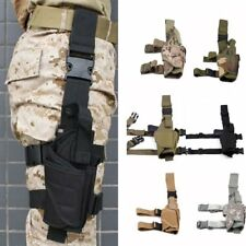 Adjustable Tactical Pistol/Gun Drop Leg Thigh Holster with Mag Pouch Right Hand