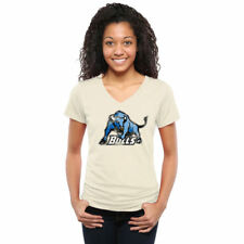 Buffalo Bulls Women's White Classic Wordmark Tri-Blend V-Neck T-Shirt - College