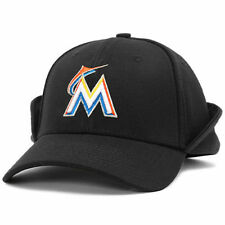 New Era Miami Marlins Black Downflap 39THIRTY Flex Hat - MLB