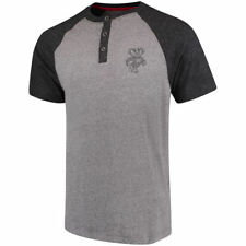 Colosseum Wisconsin Badgers Heathered Gray/Heathered Black Moops Henley T-Shirt