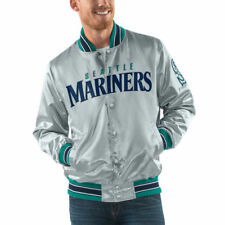 Starter Seattle Mariners Gray Start the Closer Full Snap Jacket - MLB