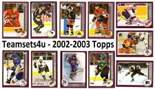 2002-03 Topps Hockey Set ** Pick Your Team ** See checklist in Description **