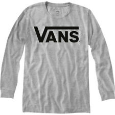Vans Classic Mens T-shirt Long Sleeve - Athletic Heather Black All Sizes