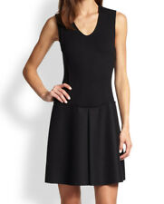 Theory Avernia Classic Combo Dress Wool Cashmere Barneys Net-A-Porter 6 S $495