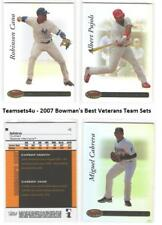 2007 Bowman's Best Veterans Baseball Set  ** Pick your Team **