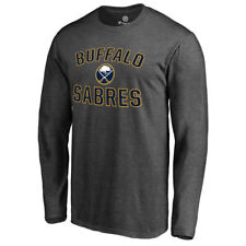 Fanatics Branded Buffalo Sabres Gray Victory Arch Long Sleeve T-Shirt - NHL