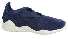 Puma Mostro Navy Strap Up Leather Suede Mens Trainers 363450 01 P1