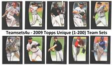 2009 Topps Unique (1-200) Baseball Set ** Pick Your Team **