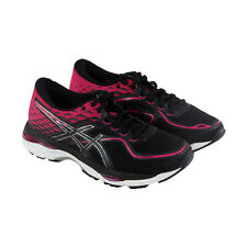 Asics Gel Cumulus 19 Womens Black Mesh Athletic Lace Up Running Shoes