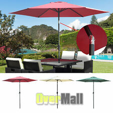 9ft Patio Umbrella Outdoor Market Tilt w/ Crank Sunshade Yard Garden Beach Pool