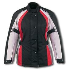 New Womens Black & Red Armored Textile Motorcycle biker Jacket $149.95  SIZE S
