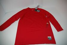 NIKE mens BASEBALL PRO COMBAT Red VAPOR HYPERCOOL PLAYER'S LONG SLEEVE SHIRT
