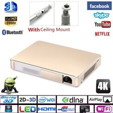 7000 Lumens 4k 1080p Full HD Home Theater Projector DLP Android 3D Wifi Cinema