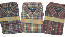NEW! $90 Polo Ralph Lauren Madras Fabric Plaid Shirt!  *Classic Fit*   2 Styles