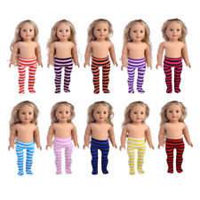 Dolls Stripes Leggings Pants for 18 Inch American Girl Doll Clothes Accessories