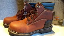NIB, $90. MSRP, Mens Dickies Leather Heritage Steel Toe Work Safety Ankle Boots