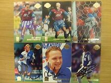 AUTOGRAPHED MERLIN/TOPPS PREMIER GOLD 99 CARDS: TEAMS A-D: FREE UK P&P: LOOK!!!