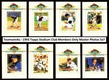 1993 Topps Stadium Club Members Only Master Photos 5x7 ** Pick Your Team **