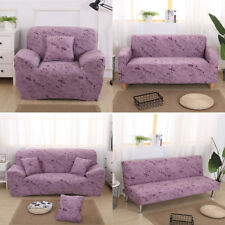 1/2/3 Seater Comfortable Stretch Elastic Sofa Couch Settee Slip Cover Pink