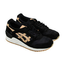 Asics Gel Respector Mens Black Suede & Mesh Athletic Lace Up Running Shoes