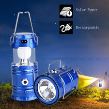 LED Portable USB Solar Rechargeable Lantern Ultra Bright Camping Tent Lamp Light