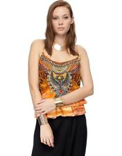 new CAMILLA FRANKS SILK SWAROVSKI THE LION HEART TOP KAFTAN sz 1 more in store