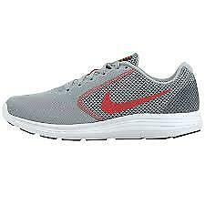 Nike Revolution 3 Mens Gray Mesh Athletic Lace Up Running Shoes