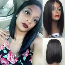 Short Bob Synthetic Lace Front /Full Wigs Glueless Silk Straight Baby Hair Wigs.