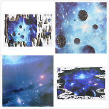 3D Blue Galaxy Wall Decals Removable Wall Stickers Bedroom Living Room Decor