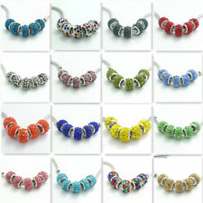 20pcs silver glass European charms beads Fit Necklace Bracelet Chain Jewelry
