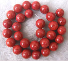 """4mm-24mm Red Sponge Coral Round Loose Beads 15.5 """""""