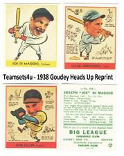 1938 Goudey Heads Up Reprints Baseball Set ** Pick Your Team **