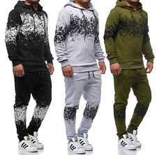 Men's Tracksuit Hoodie Trousers Sports XS-XL Cotton
