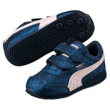 Puma Whirlwind Glitz V PS CHILDREN'S GIRL'S SHOES TRAINERS Sargasso Sea