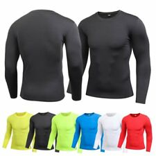 Mens Quick-Dry Compression Base Layer Top Thermal Under Skin T-Shirt Gear Tee US