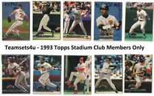 1993 Topps Stadium Club Members Only Box Baseball Set ** Pick Your Team **